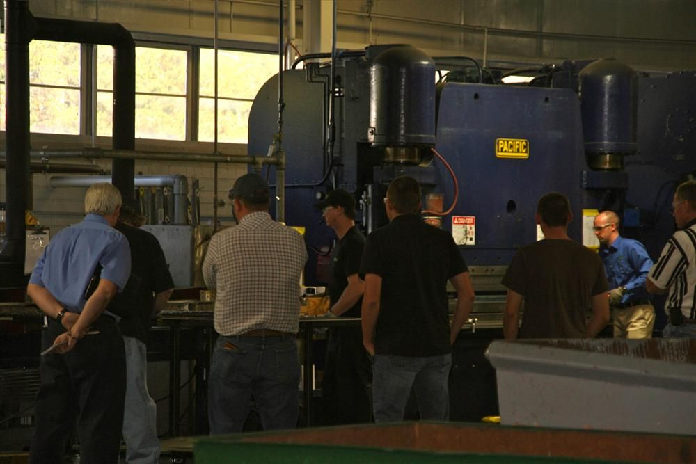 Attendees had the opportunity to tour the facility.
