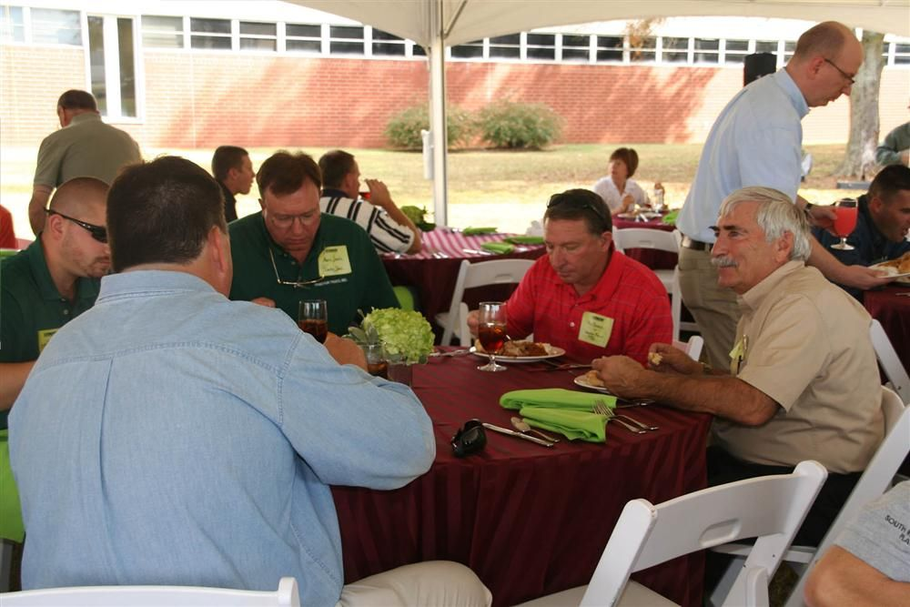 Guests enjoyed a meal prepared by pit master Bill Eason and his Little Red Pig catering company.