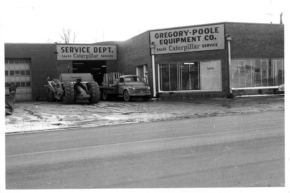 Gregory Poole's first facility in Raleigh in 1951.