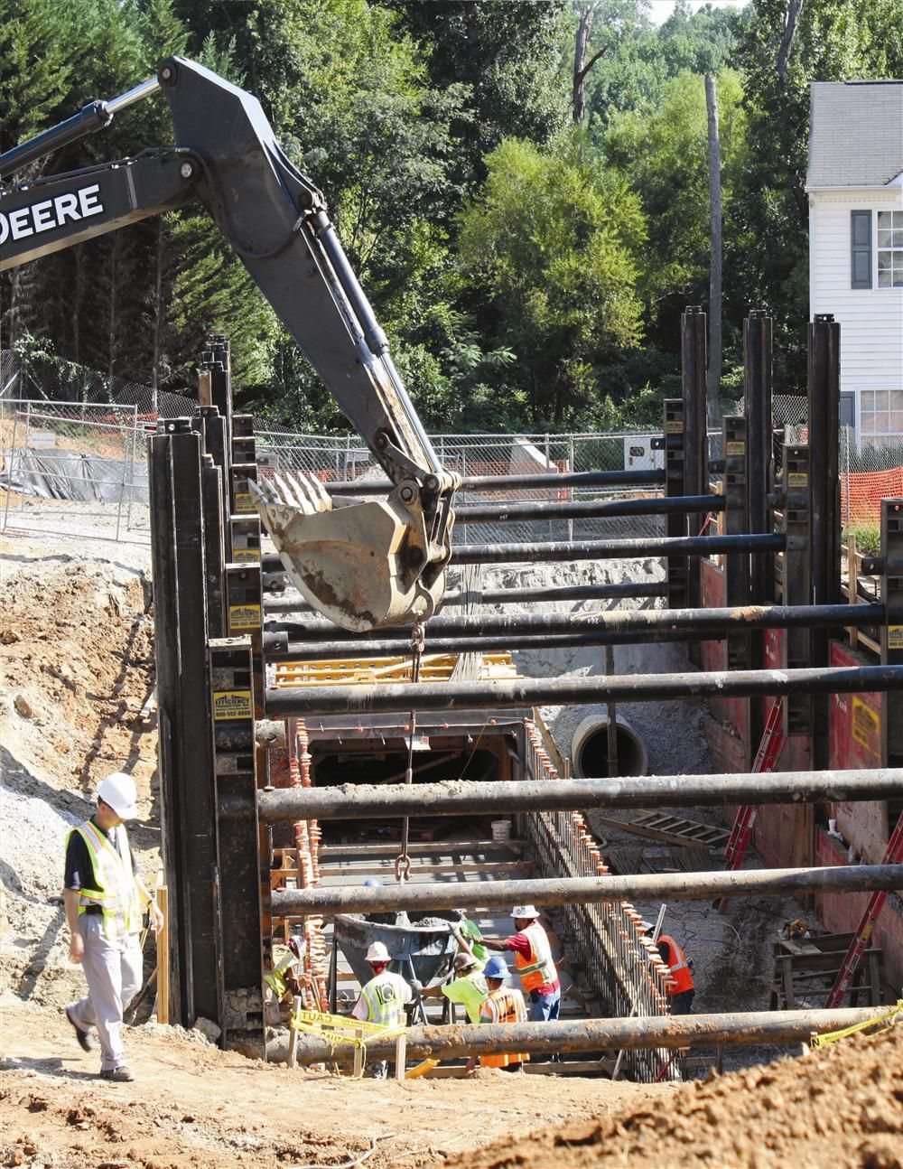 Cast-in-place pipes and culverts present a greater safety challenge as the pipeline trench generally needs to be kept open and exposed longer than traditional precast pipe.
