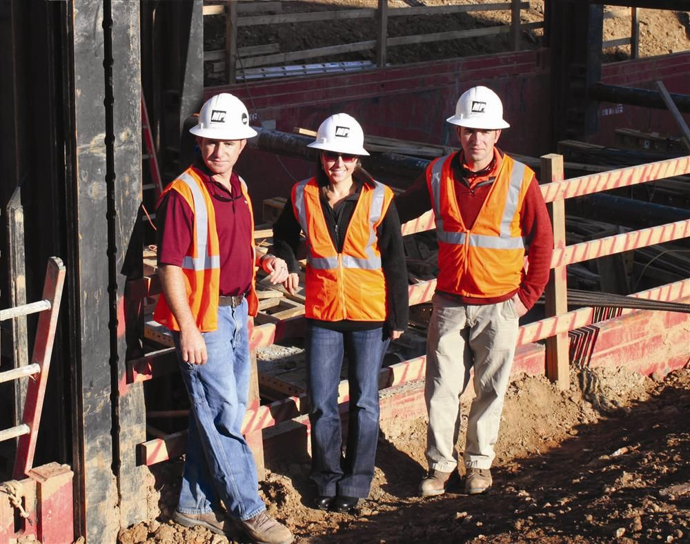 Moffat Pipe Inc. is a family-owned and operated business. Overseeing the Carolina Dam project (L-R) are Keith Moffat, secretary/treasurer; Andrea Moffat, president; and Craig Moffat, vice president.