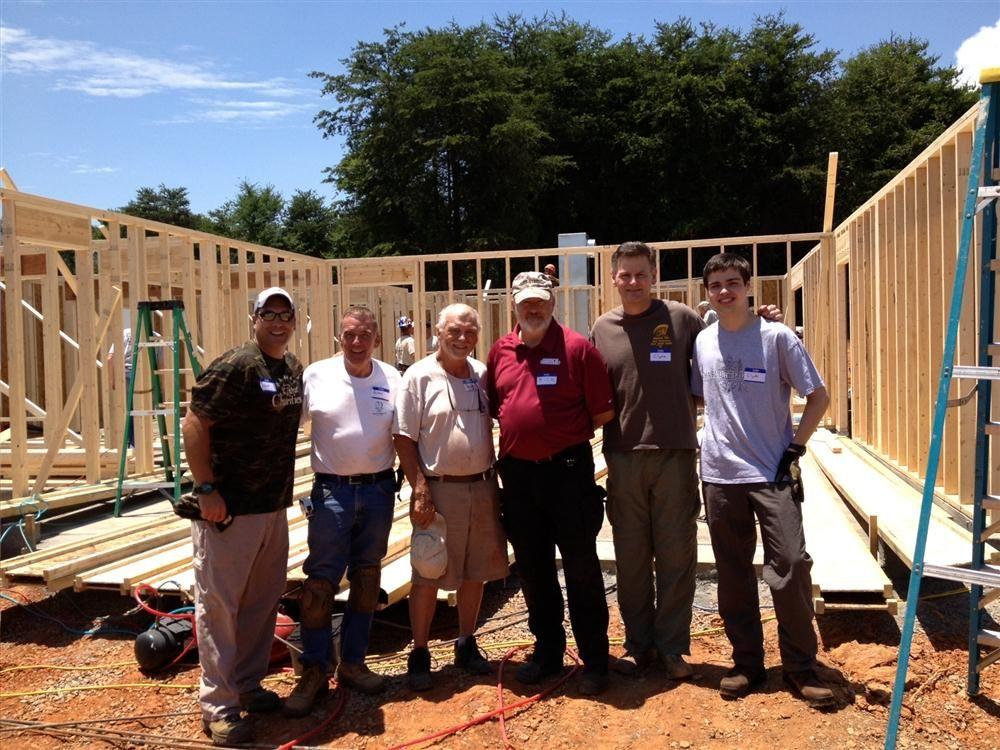 Leaders of the five charities volunteer on site.