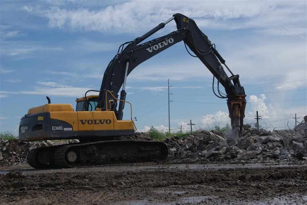 Mike Flaherty got his first Volvo after losing his previous excavator in the bottom of a retention pond.