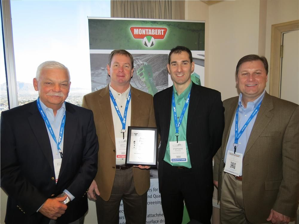 Tramac by Montabert recently recognized several integral partners in the industry, including Tractor and Equipment Company, which received the Top Dealer Award of Excellence for 2012.