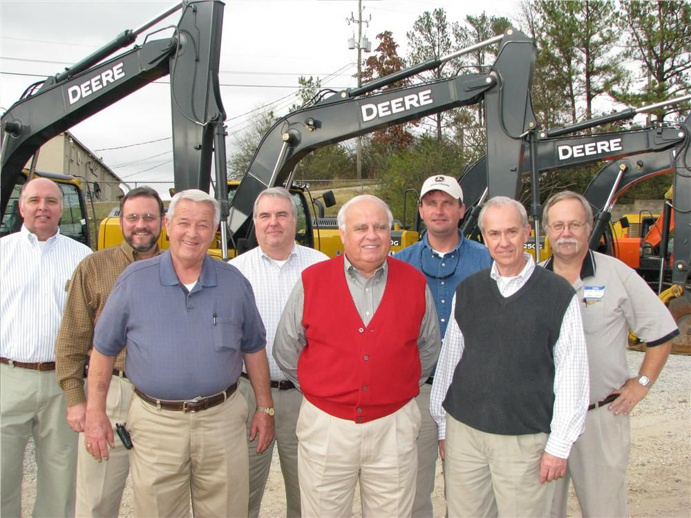Some of the Warrior Tractor & Equipment representatives who helped to make this event a success include (L-R) Tom Tate, sales manager-mining; David Schafer, district sales manager; John Fore, service manager-Birmingham; David Patterson, general sales mana