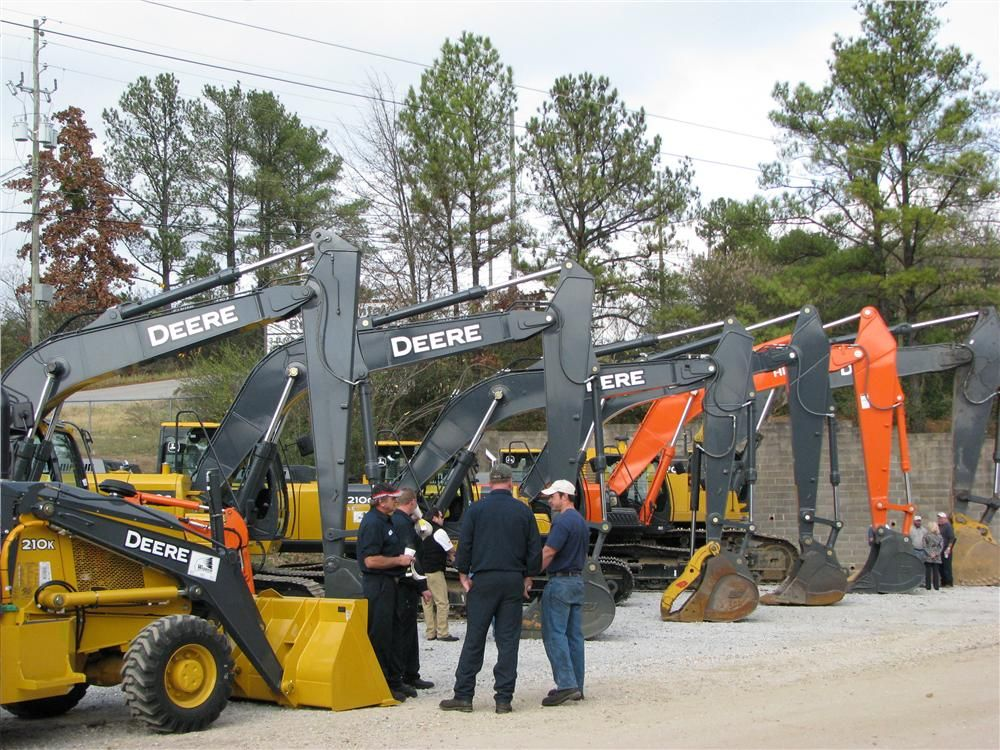 A nice array of Deere and Hitachi machines were on display for the guests to see.