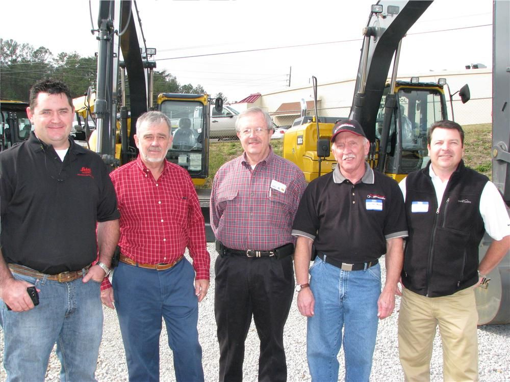 A tremendous turnout of manufacturer representatives were on hand including (L-R) Kert Parker, Leica Geosystems, Norcross, Ga.; Jim Myers, Paladin, Montgomery, Ala.; Bill Waits, TAG Manufacturing, Chattanooga, Tenn.; Bobby Hudson, HydrauliCircuit Technolo