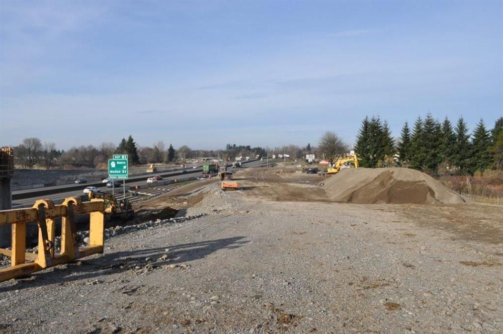 Scarsella crews have completed much of the work for the north end of the project, including: installing drainage, CSBC, and the paving of a new SB alignment that connects to the Blakeslee Junction Bridge that was built during the first phase of the projec