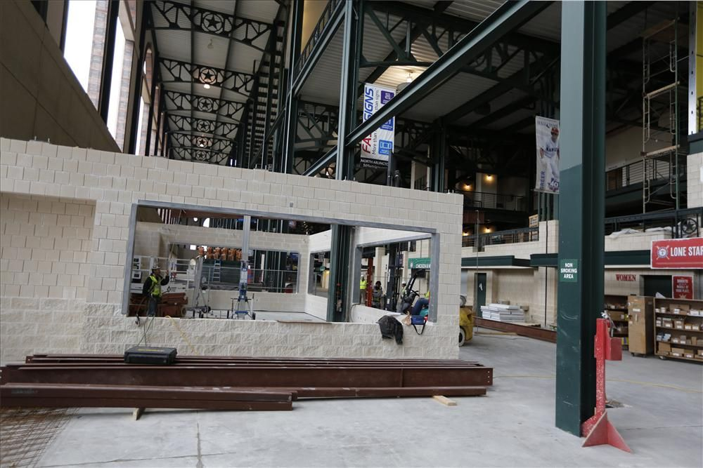The existing concessions stands on the main concourse behind home plate will be renovated to create display cooking areas, similar to those in Vandergriff Plaza.