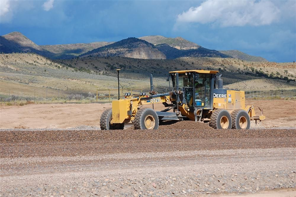 After Fiore & Sons completed the demo of the old runway and moved 1 million cu. yds. (836,127 cu m) to rebuild the runway, United Companies came on site and moved 100,000 cu. yds. (76,455 cu m) of dirt for the large apron and taxiway.