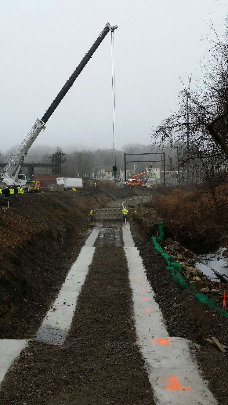 """""""The largest challenge for this project is working adjacent to active railroad tracks and the current substation,"""" said Kristin Geiger, SEPTA public information manager."""