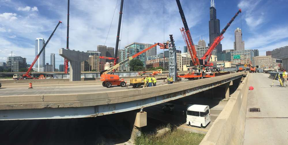 The reconstruction of the Circle Interchange (I-90/94 at I-290) in downtown Chicago — renamed the Jane Byrne Interchange after the former mayor of Chicago who passed away in 2014, has reached the midway point.