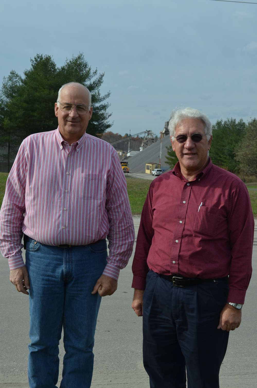 Mark Charbonneau (L), co-owner of Continental Paving, had a decades-long working relationship with Doug Baker.