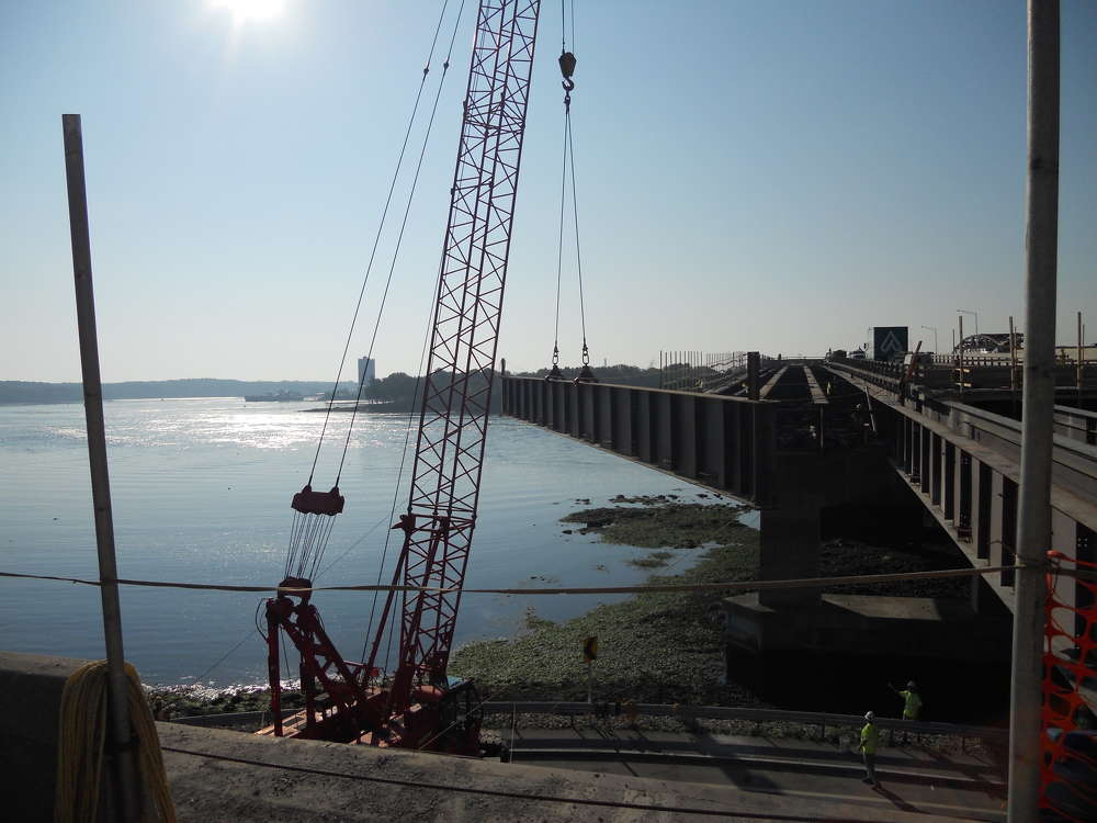 The Newington-Dover Bridge Project on the Spaulding Turnpike has been under construction for five years. With completion slated for 2022, this multi-million dollar project is projected to cost a total of $270 million dollars by the time it is completed.