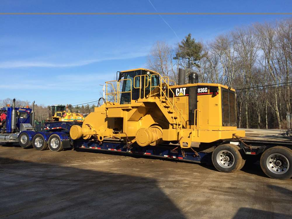The Cat 836G was completely rebuilt, loaded up and ready to return home to its owner.