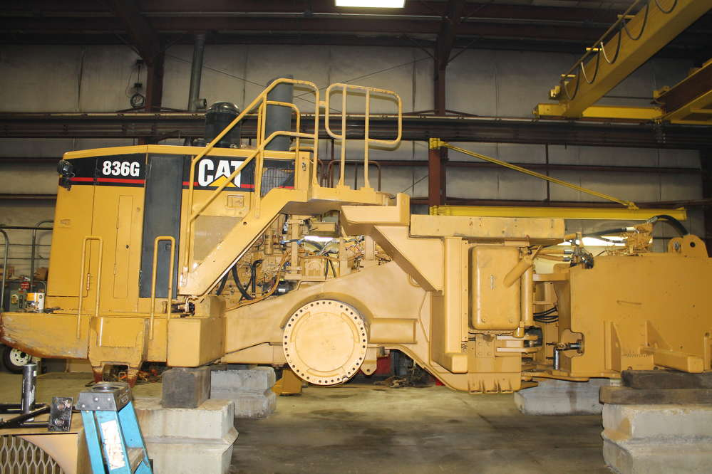 The Cat 836G when it was halfway through the rebuild process.
