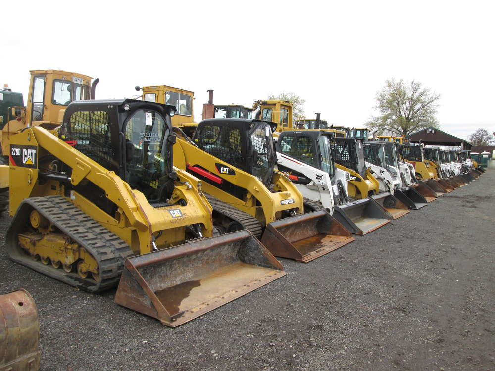 The top seller among the 22 skid steers up for bid was a 2014 Cat 289D, which went for $53,000.