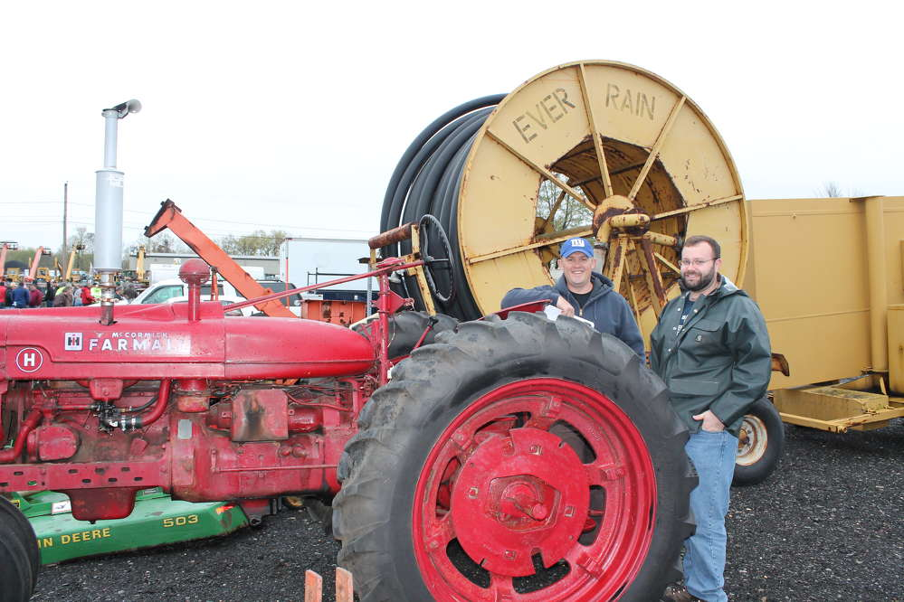 Ryan Dumphy (L) and Dan Polacheck, both from North Hampton, Mass., were checking out the Ag equipment at the sale.