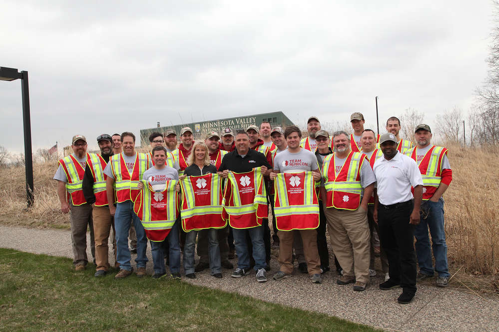 The first graduating class of Team Rubicon heavy equipment instructors.