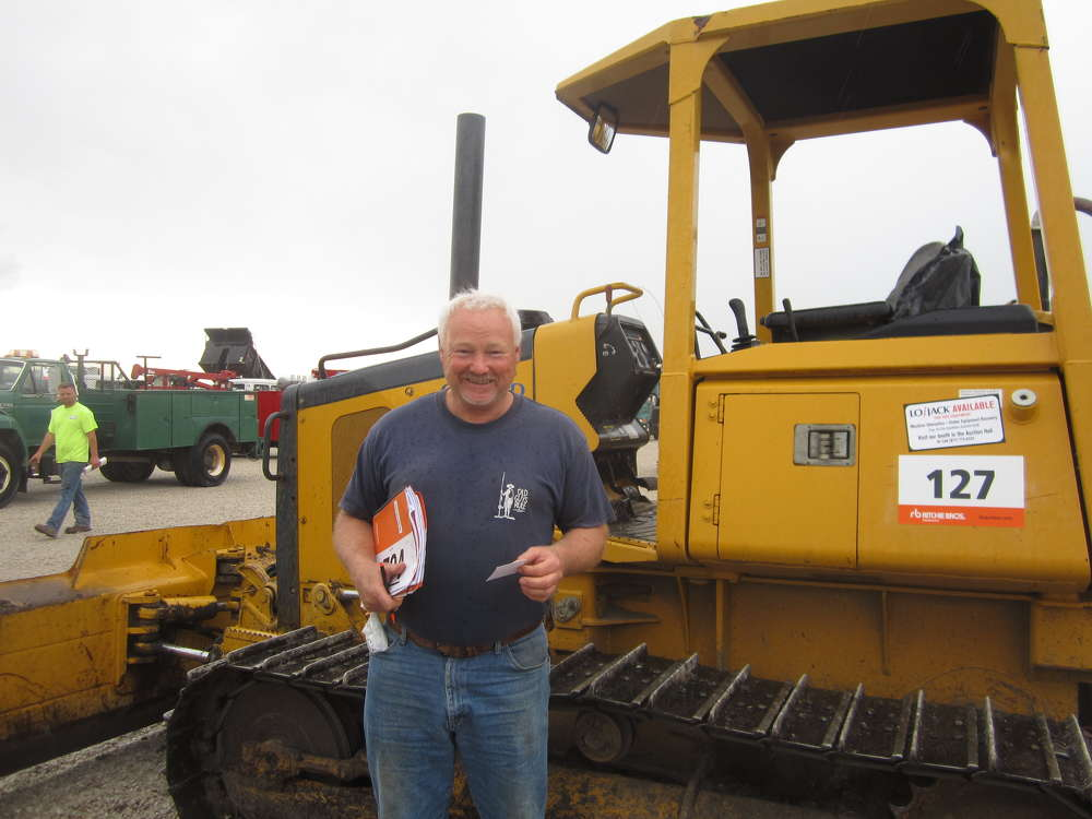 Dave Normington, owner of Normington Excavating, wants to update his fleet with this John Deere 550 dozer.