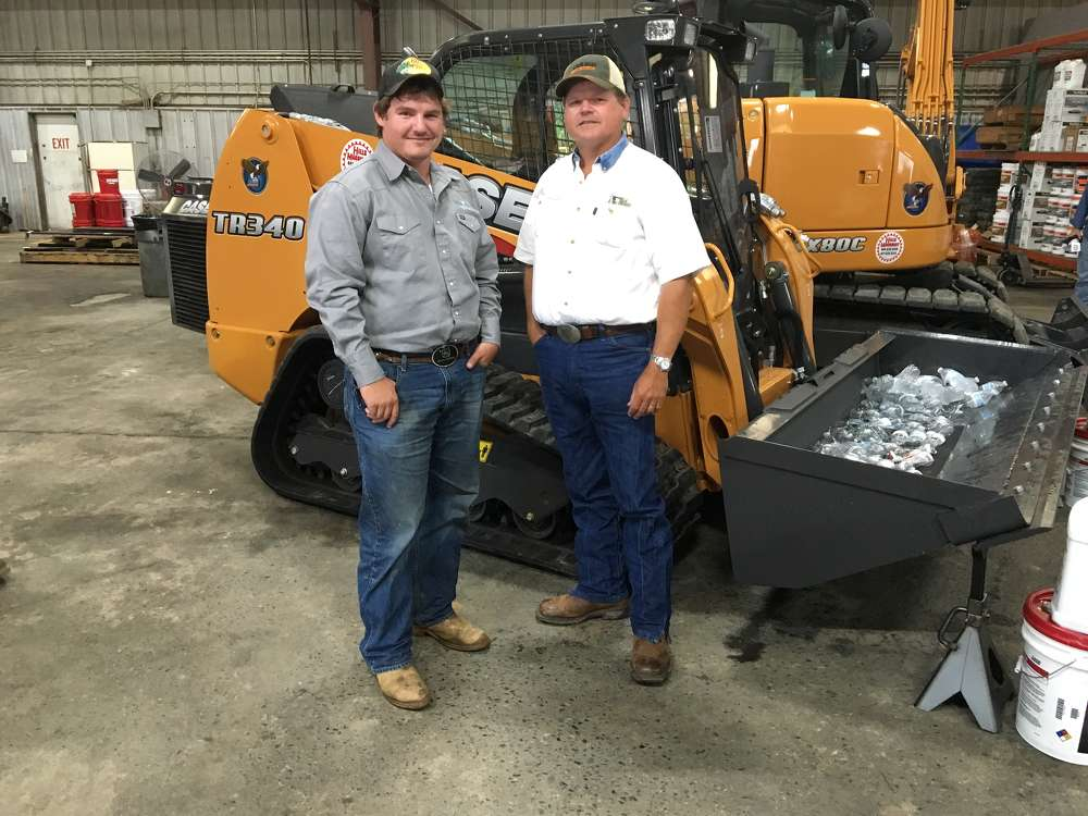D.J. (L) and David Whitesell, both of Whitesell Trucking in Rock Hill, S.C., own a few Case compact track loaders and came to the event to learn about other Case products