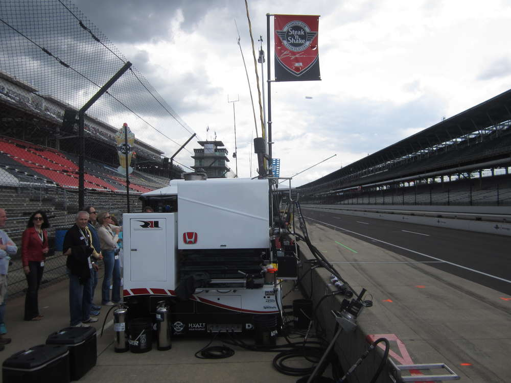 The steak and shake pit area of the #15 car driven by Graham Rahal.