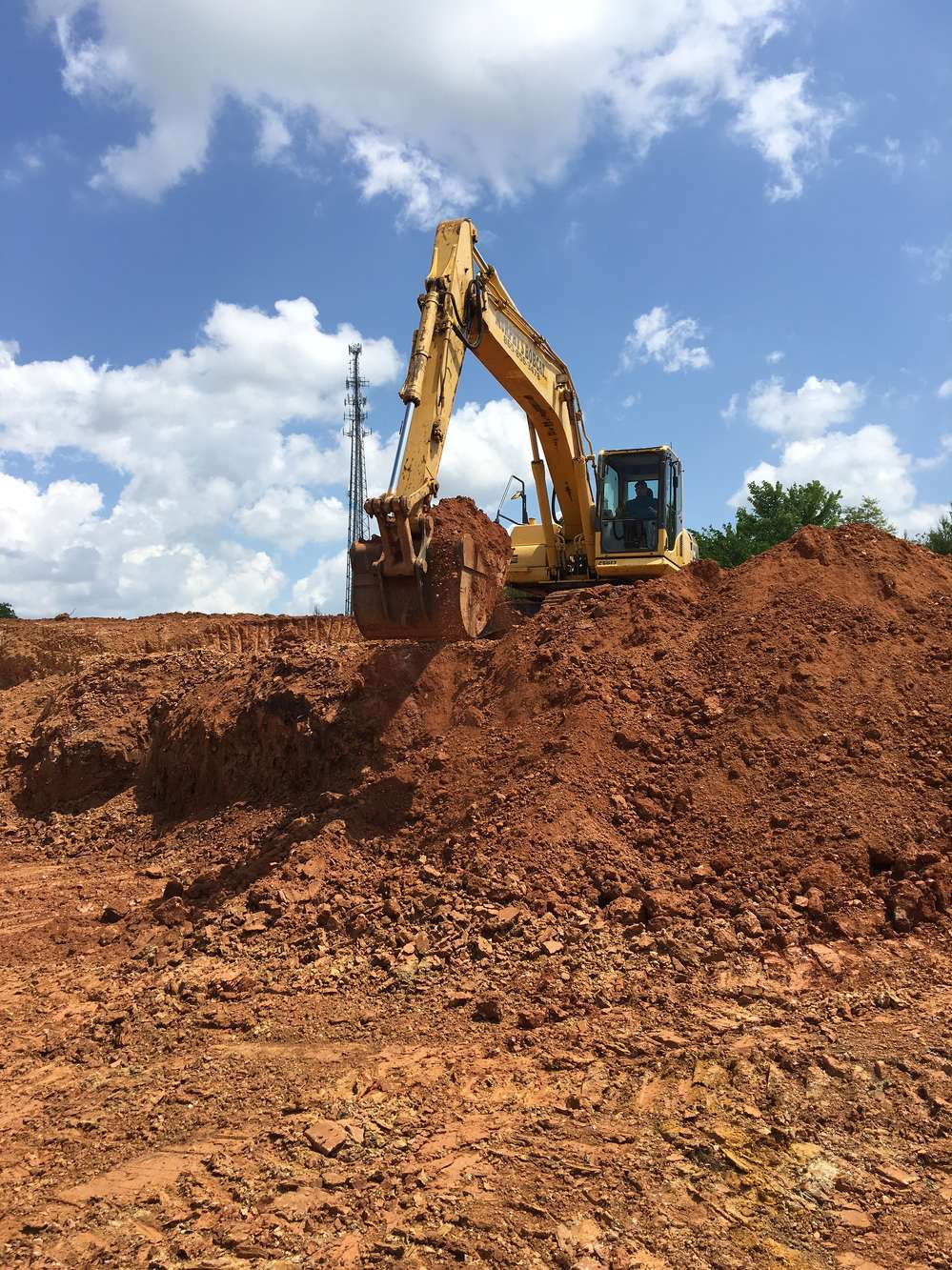 From his operation in Maryville, just south of Knoxville, Murphy does a lot of ground clearing and carving through land for new roads. Much of that is done for new-home developers.