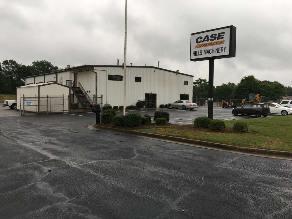 The facility is conveniently located a mile off of I-85 in Greenville.  It has six service bays, a parts warehouse and ample room to service machines.