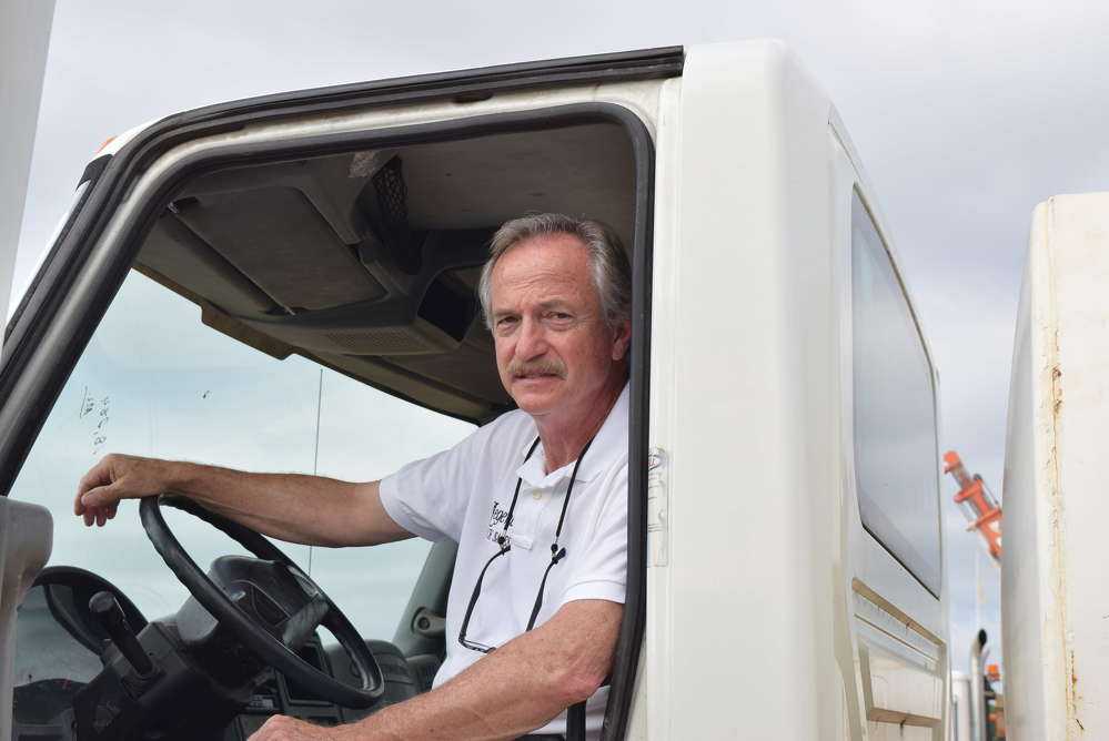 Larry Brown, Legend Trucks LLC, came from Ringgold, Va., to look for service trucks.