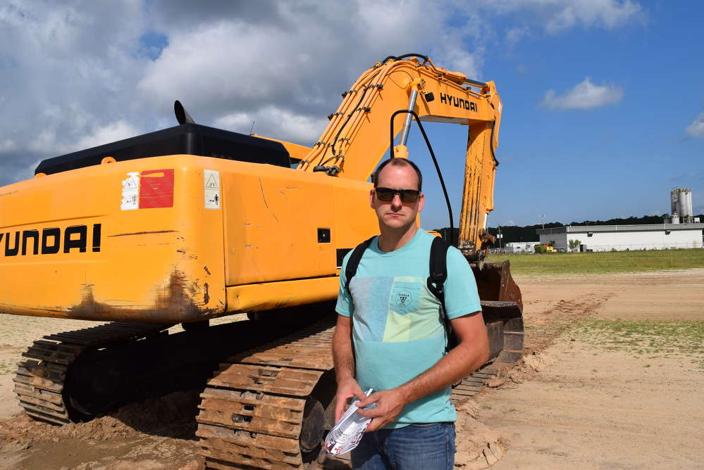 Austin Graham, Watson Construction in Newberry, Fla., shops the variety of equipment.