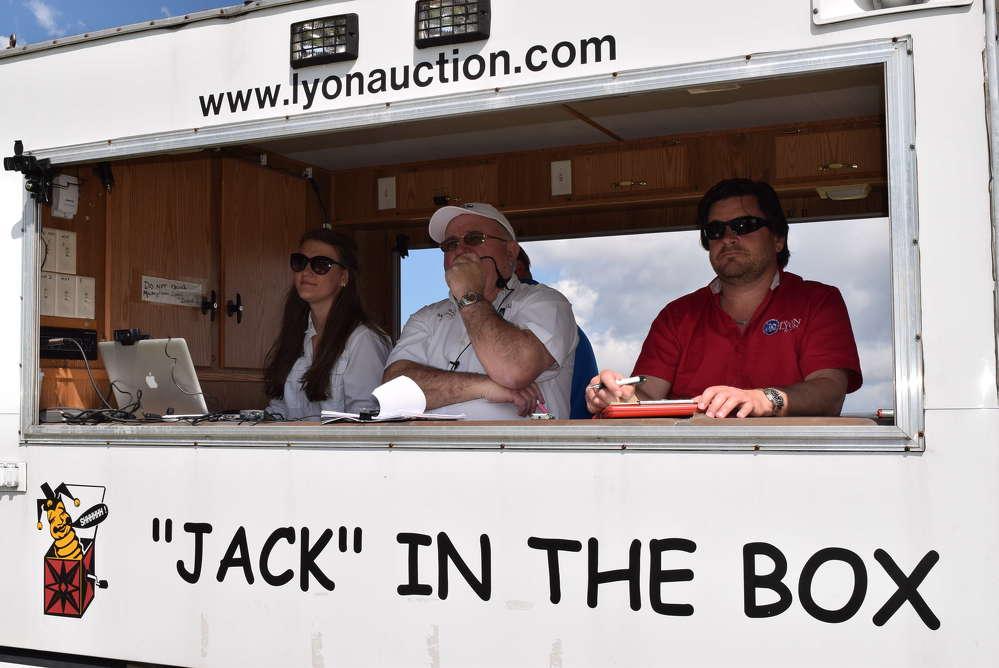 Jack Lyon finds the next bidder.