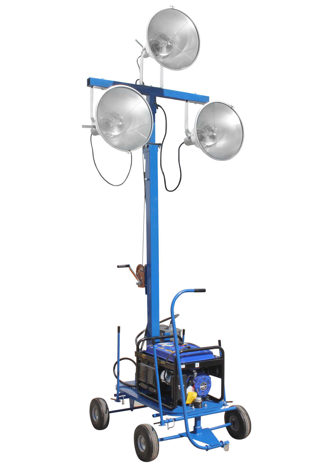 The WAL-ML-3XM-3G mini light tower from Larson Electronics is practical for operators who need a fully portable yet easy to operate light system capable of illuminating large areas.