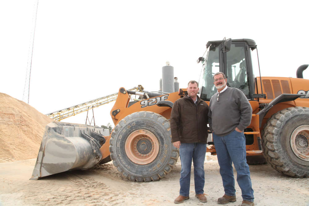David Johnson (L), Border Equipment, and Terry Davis of Augusta Ready Mix.