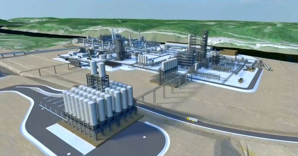 Image courtesy of Shell.  An artist's rendering of the proposed plant.
