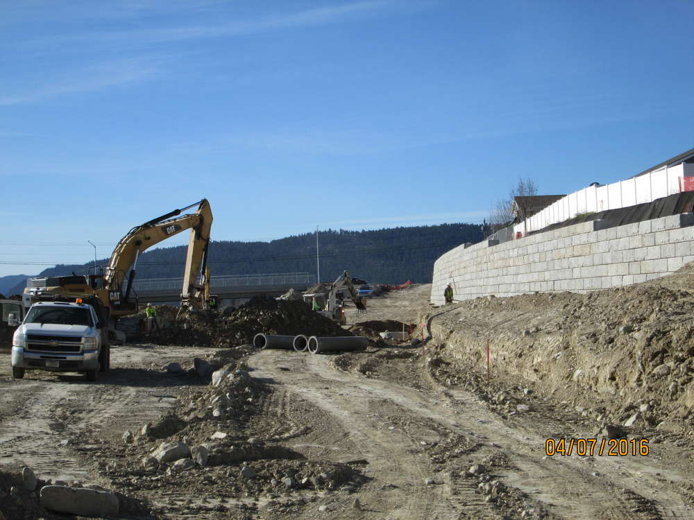 A bridge is being built over Ashley Creek and the Rails to Trails path, and another bridge will span U.S. 2.