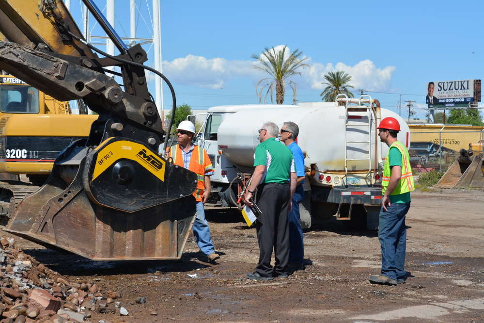 Representatives of CSW Contractors were on hand to see the crushing demonstration.