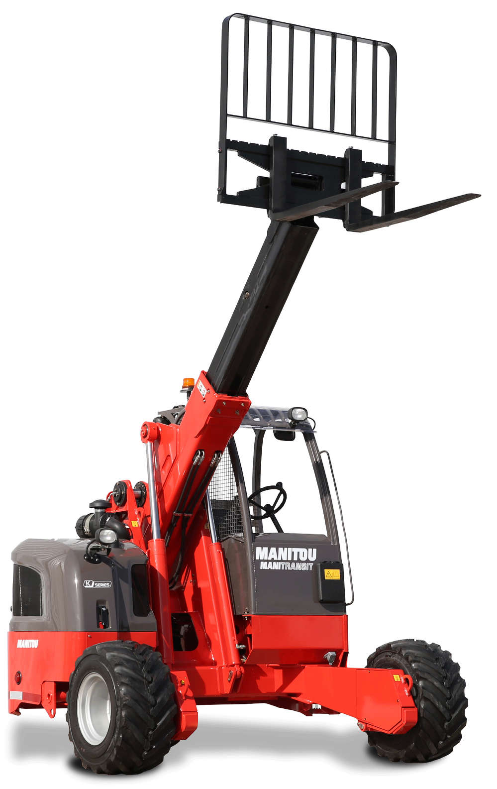 """While most truck mounted forklifts are designed with a mast, the Manitou TMT 55 is patented as a """"free lift"""" forklift, providing telescopic extension up to 4' 10"""" (1.47 m)."""