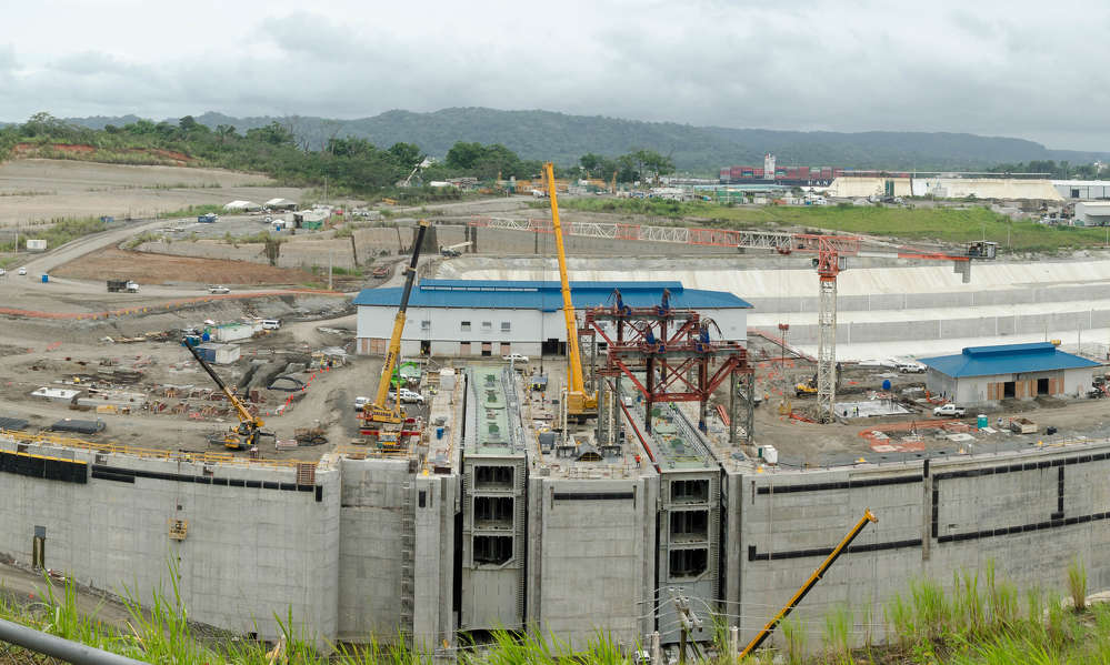 Image courtesy of Keith Yahl.  The expansion includes two new sets of lock complexes, one on the Pacific coast on the outskirts of Panama City and one on the northern coast at the city of Colon.