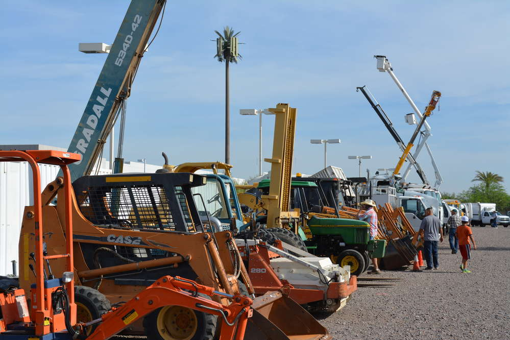 This is just a small section of the lineup of equipment offered at WSM's May 14 sale in Phoenix, Ariz.