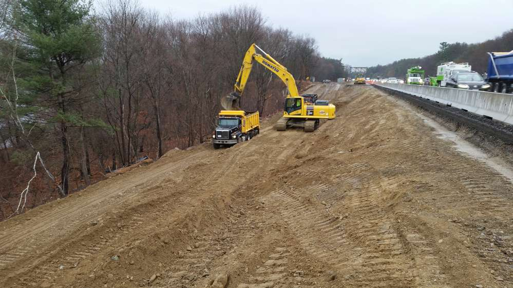 Barletta Heavy Division Inc. photo. Barletta Heavy Division Inc. (BHD) is more than one-third through the construction of the Massachusetts Department of Transportation's (MassDOT) $137.6 million Needham-Wellesley I-95 Add-A-Lane project in Needham, a suburb of Boston.
