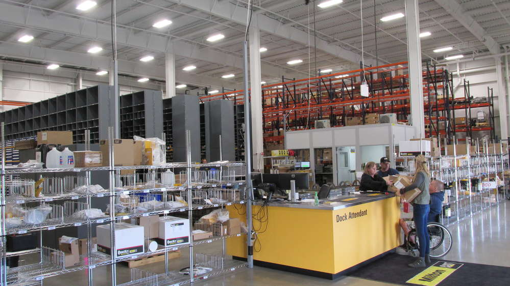 The 14,780 sq. ft. (1,373 sq m) parts warehouse is supported by a warehouse management system that results in 99.7 percent accuracy. 96 percent of walk-in needs can be filled off the Londonderry shelves.