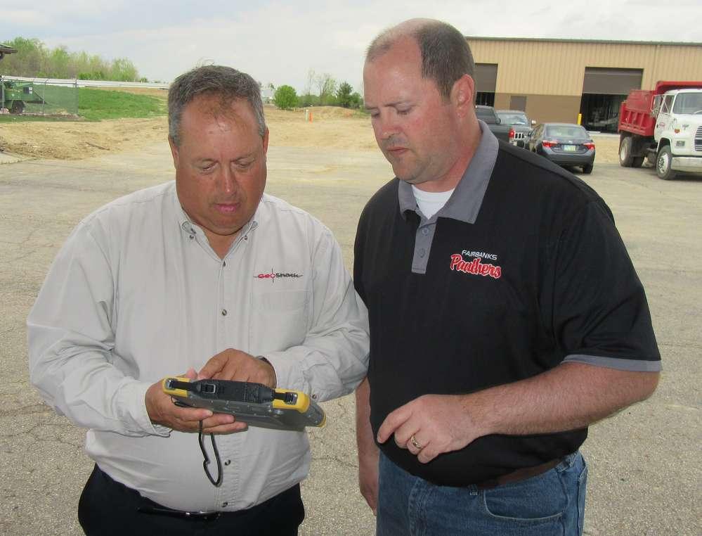 Steve Hatfield of GeoShack reviews Topcon's new FC500 field controller with Chris Winkle of Gandee Heydinger Group.