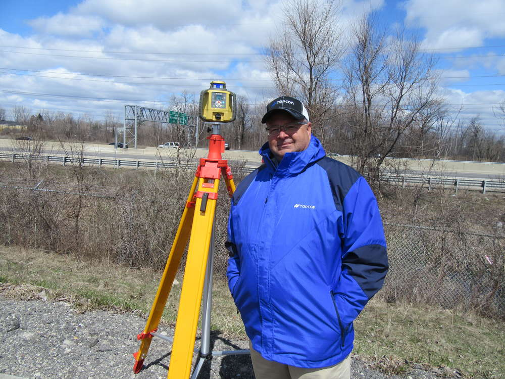 In from Florida for the event, Joel Frost, GeoShack, talks about Topcon's RL-SV2S multi-task rotating laser.