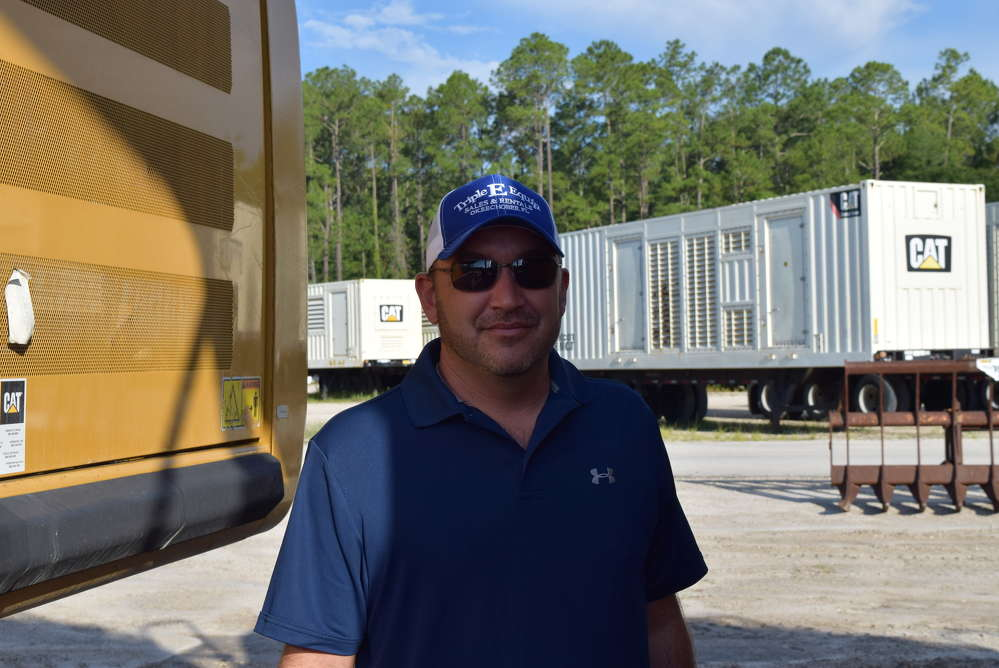 Billy Fuchswanz of Triple E Equipment looks at a wide variety of equipment.