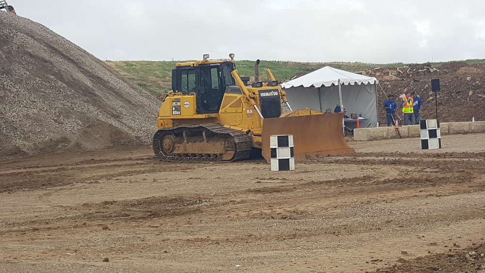 The city of Denton provided equipment for the Road-E-O competition, including this Komatsu D65EX-17 bulldozer.