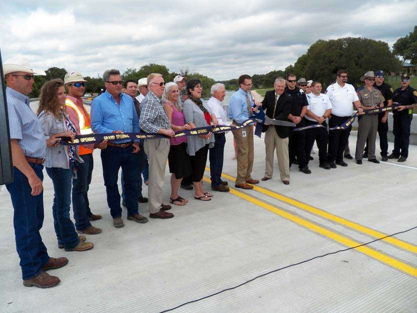 The Texas Department of Transportation joined officials from Blanco County as they celebrated the completion of the RM 165 bridge replacement project over the Blanco River with a ribbon-cutting ceremony.