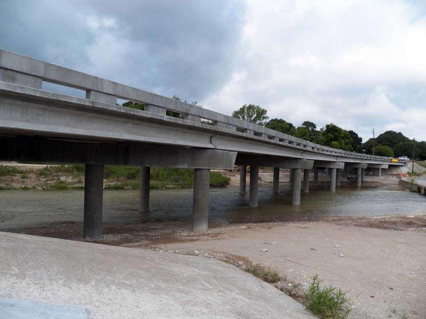The $1.3 million project replaced the RM 165 bridge, which was destroyed in the 2015 Memorial Day floods.