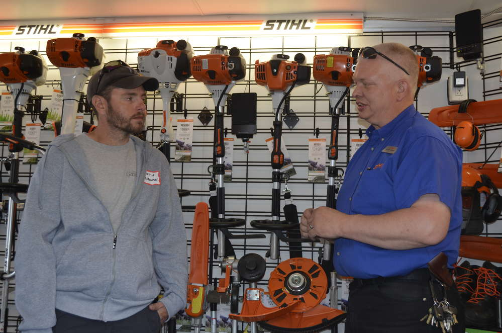 Stihl brought in a trailer load of power tools to fit every commercial or residential lawn and tree care application imaginable.