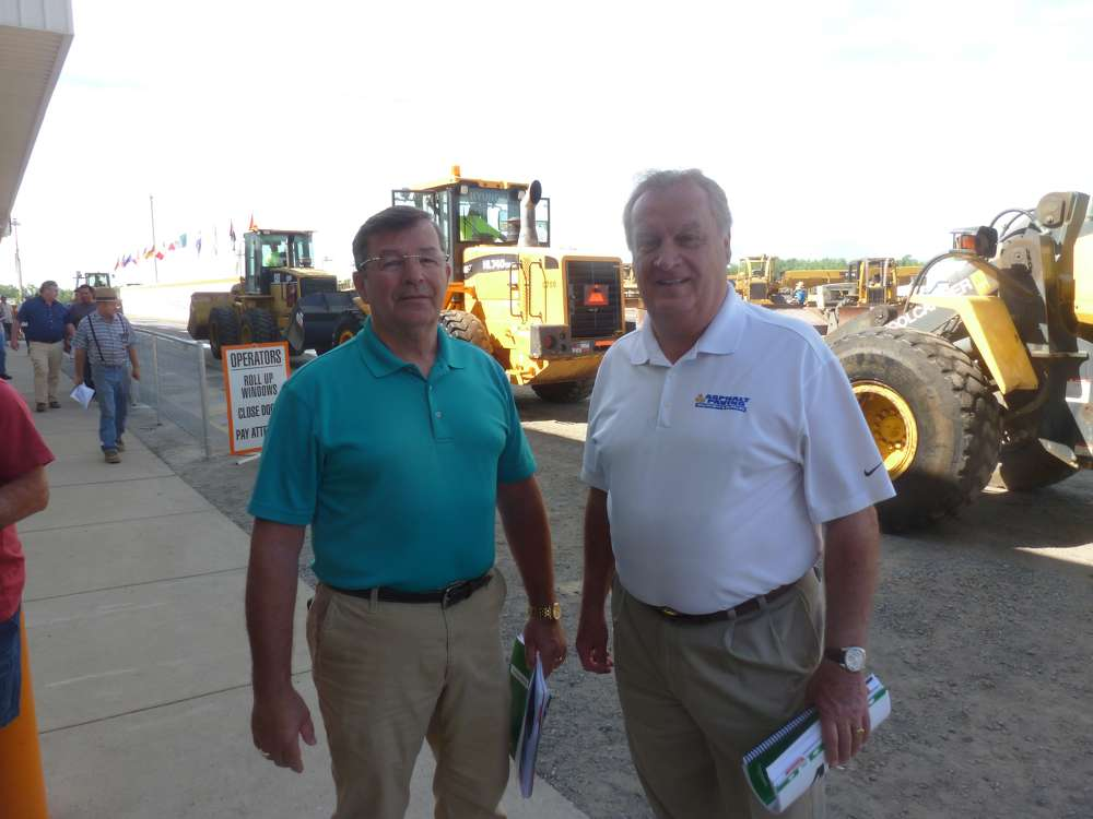 Dan Collins (L), Harbeson branch manager, and Andy Pennington, general manager and co-founder of Asphalt Paving Equipment & Supplies Inc. The company has locations in Wilmington and Harbeson, Del.