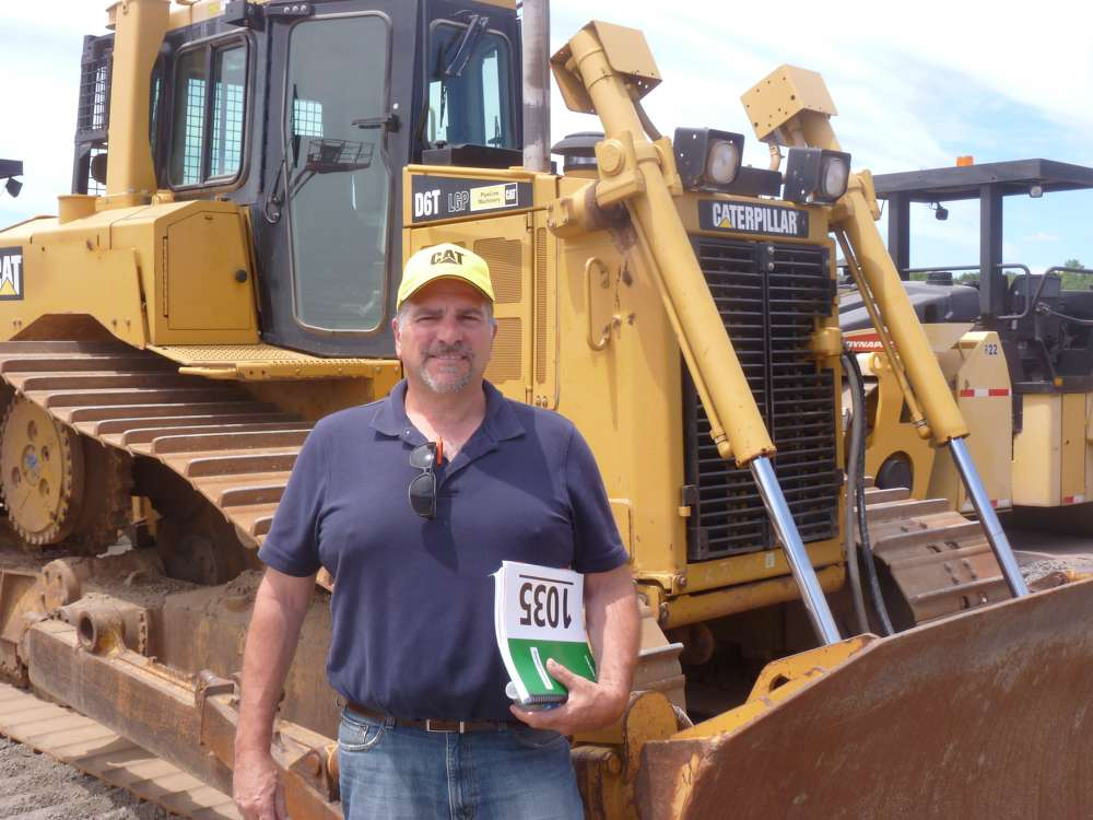 Tom Alfano, domestic and international sales, Foley CAT, travelled from the company's headquarters in Piscataway, N.J., to the sale.